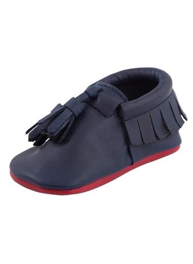 Moots Moots Lacivert Kırmızı Püsküllü Ayakkabı Lacivert